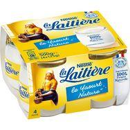 Nestlé LA LAITIERE Yaourt au lait entier nature 4x125g