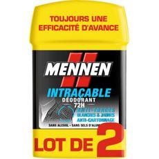 Mennen déodorant stick intraçable 72h 2x50ml