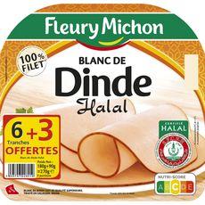 Fleury Michon Blanc de dinde halal 6 tranches + 3 offertes 270g
