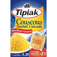 TIPIAK Couscous sachets cuisson prêt en 1min30 5 sachets 5x100g
