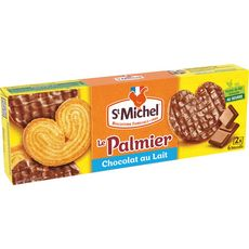 ST MICHEL Palmiers biscuits nappés de chocolat au lait 2x6 biscuits 100g