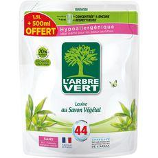 ARBRE VERT L'Arbre Vert recharge lessive végétal 1,5l +500ml offert