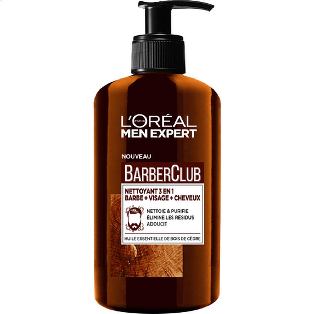 L'Oréal Barber Club nettoyant 3en1 barbe visage et cheveux 200ml