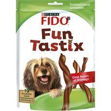 FIDO Friandises fun tastix au bacon et fromage pour chien 150g