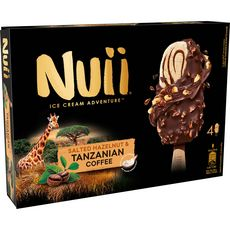Nuii Bâtonnet glacé au café de Tanzanie x4 -266g