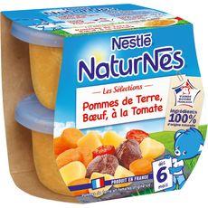 Nestlé Naturnes bol pomme de terre et boeuf à la tomate dès 6 mois 2x200g