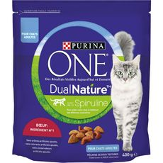 PURINA Purina One dual nature croquettes au boeuf pour chat 400g 400g