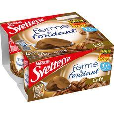 SVELTESSE Sveltesse Ferme et fondant yaourt allégé au café 4x125g 4x125g