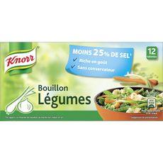 KNORR Bouillon de légumes -30% de sel sans conservateur 12 tablettes 109g