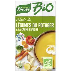 Knorr soupe liquide bio velouté légumes crème fraîche 1l