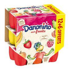 DANONINO Petits suisses arômatisés aux fruits 18x50g