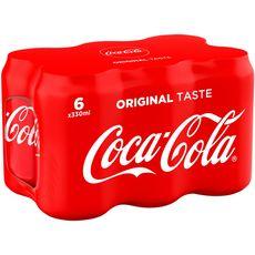 Coca cola Boisson gazeuse aux extraits végétaux goût original btes 6x33cl