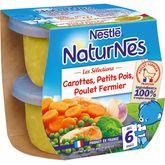 Nestlé Nestlé Naturnes bol légumes du marché et poulet fermier dès 6 mois 2x200g