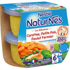 Nestlé Naturnes bol légumes du marché et poulet fermier dès 6 mois 2x200g