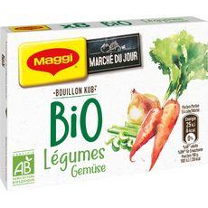 MAGGI Bouillon Kub de légumes bio 8 tablettes 80g