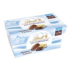 LINDT Les Pyrenéens au chocolat au lait et noir 30 pièces 219g