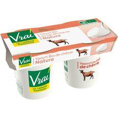 VRAI Yaourt nature bio au lait de chèvre 2x125g