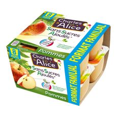 CHARLES ET ALICE Spécialité pomme sans sucres ajoutés 8x100g