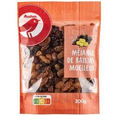 AUCHAN Auchan mélange raisins moelleux 200g 200g