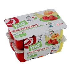 AUCHAN BIO Fromage frais bio aux fruits 12x60g