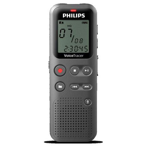PHILIPS Dictaphone numérique Voice Tracer DVT1110 - Gris