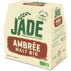 JADE Bière ambrée bio 4,5% bouteilles 6x25cl