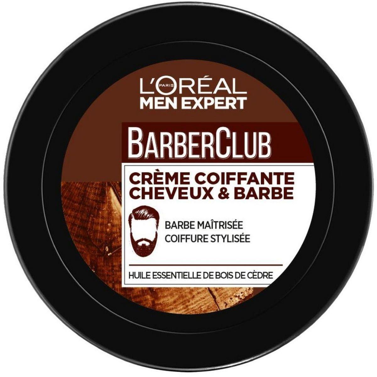 L'Oréal Barber Club crème coiffante cheveux & barbe 75ml