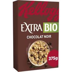KELLOGG'S Extra céréales au chocolat noir bio 375g
