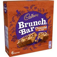 CADBURY Cadbury brunch bar barres de céréales chocolat au lait x6 -192g 6 pièces 192g