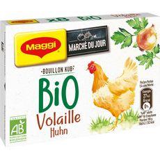 MAGGI Bouillon Kub de volaille bio 8 tablettes 80g