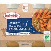 Babybio Babybio Petit pot carottes patate douce & blé dès 6 mois 2x200g