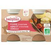 Babybio Babybio Petit pot dessert pomme abricot dès 4mois 2x130g