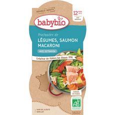 Babybio légumes saumon macaroni 2x200g dès 12 mois