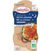 Babybio Babybio Assiette tendresse de petits légumes & riz dès 12 mois 2x200g