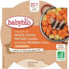 Babybio assiette patate douce pintade pruneaux260g dès15mois