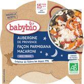 Babybio Babybio Assiette aubergines façon parmigiana macaroni dès 15 mois 260g