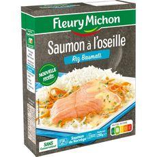 Fleury Michon Saumon de l'Atlantique à l'oseille et panaché de riz 290g