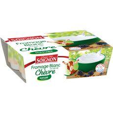SOIGNON Fromage blanc au lait de chèvre 4x100g