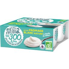 LES 300 & BIO Fromage blanc nature 4x100g