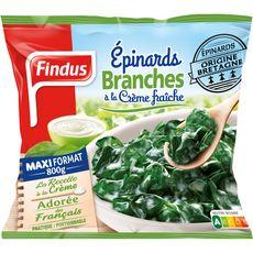 FINDUS Epinards branches à la crème fraîche 800g