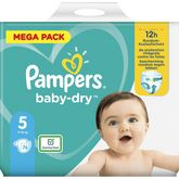 Pampers Pampers Baby-dry couches taille 5 (11 à 16kg) x76