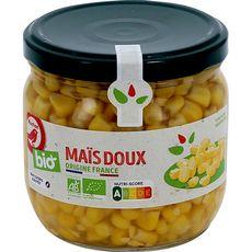 AUCHAN BIO Maïs doux sans sucres ajoutés en bocal 230g
