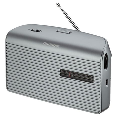 GRUNDIG Radio portable - Silver - MUSIC60