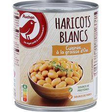 AUCHAN Auchan Haricots blancs cuisinés à la graisse d'oie 500g 500g