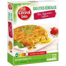 CEREAL BIO Céréal Bio galette de céréales riz légumes et safran x2 -200g 2 pièces 200g