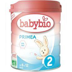 BABYBIO Primea 2 lait 2ème âge en poudre dès 6 mois 800g
