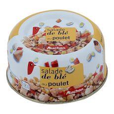 AUCHAN Salade de blé doré au poulet 250g