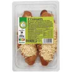 AUCHAN ESSENTIEL Croissant sauce blanche, jambon et emmental 2 pièces 280g