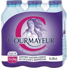 Courmayeur eau minérale nature 6x50cl