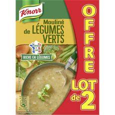 KNORR Knorr mouliné de légumes verts 2x1l